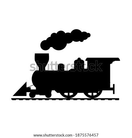 train silhouette  drawing