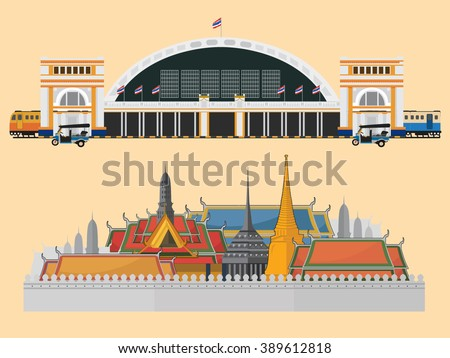 train station and palace in bangkok