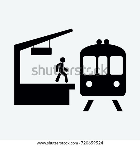 train station icon vector