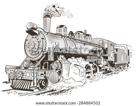 train  steam locomotive...
