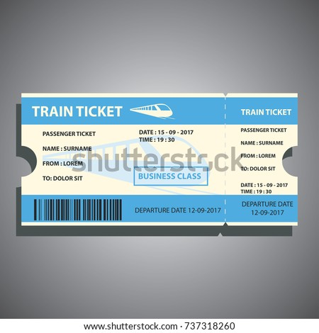 train ticket for traveling by