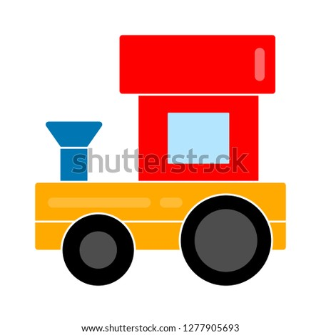 train toy icon- train toy isolated, transport cartoon illustration - Vector toy