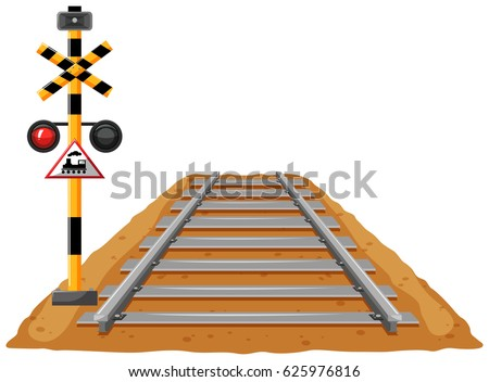train track and light signal
