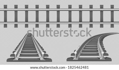 train track  straight and turn