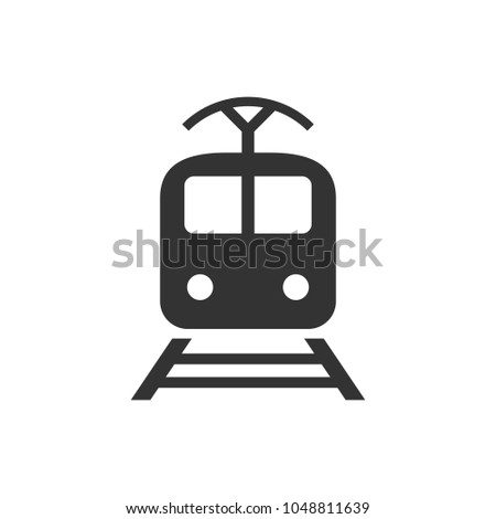 Train transportation icon. Vector illustration. Business concept train pictogram.