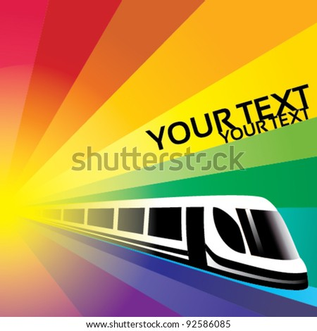 train vector background