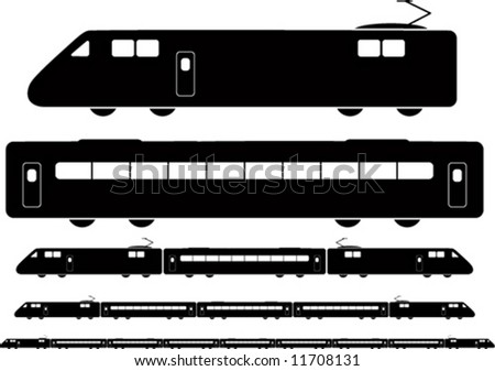 Train Vector. Different combinations.