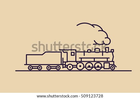 train vector icon  old classic
