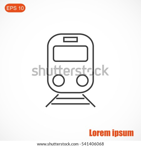 Train vector line icon