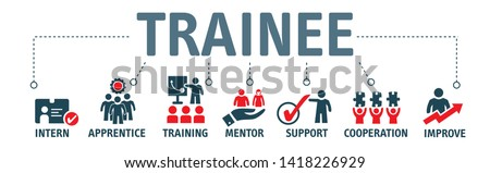Trainee program and apprenticeship On the Job Training Learning Vector Illustration Concept