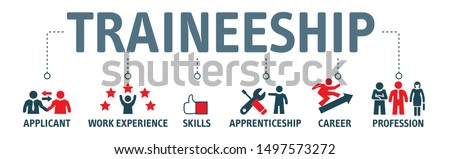 Traineeship program and apprenticeship On the Job Training Learning Vector Illustration Concept