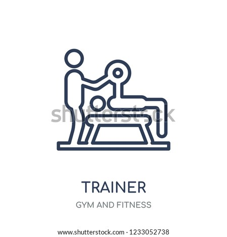 Trainer icon. Trainer linear symbol design from Gym and Fitness collection. Simple outline element vector illustration on white background