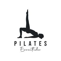 Trainer Pilates Woman Silhouette creative vector logo design