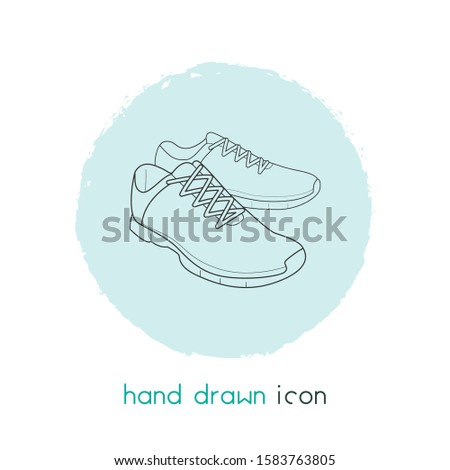 Trainer shoes icon line element. Vector illustration of trainer shoes icon line isolated on clean background for your web mobile app logo design.