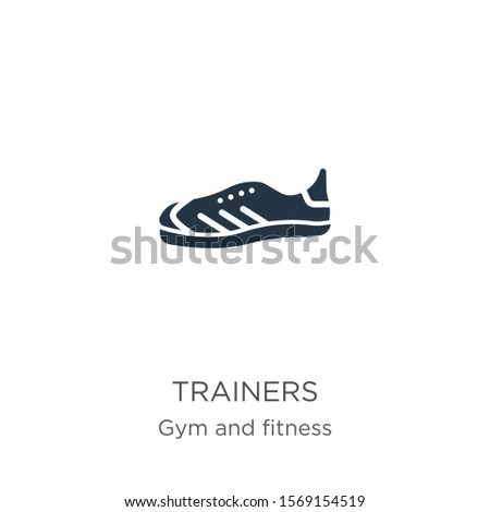 Trainers icon vector. Trendy flat trainers icon from gym and fitness collection isolated on white background. Vector illustration can be used for web and mobile graphic design, logo, eps10