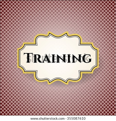 Training card, poster or banner