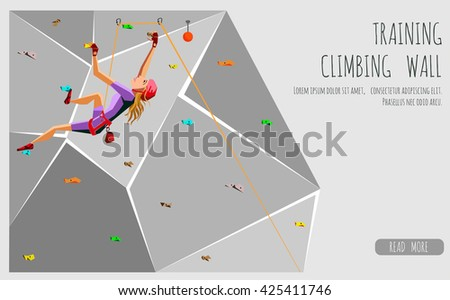 training climbing wall with