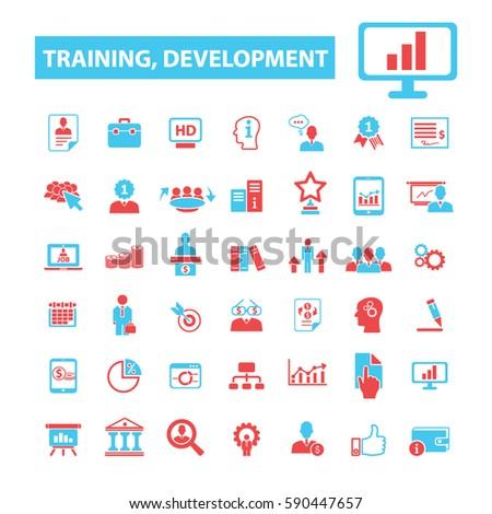 training development icons