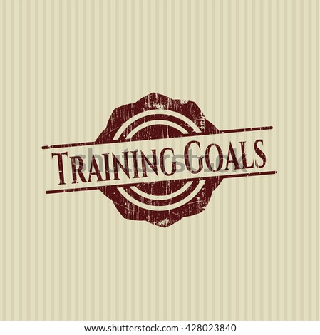 Training Goals rubber texture