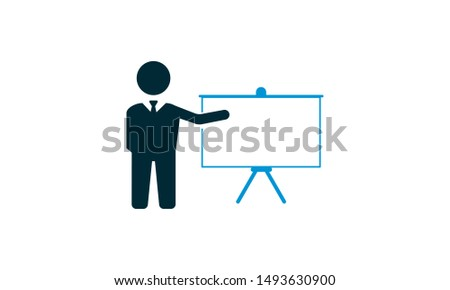 Training icon concept vector illustration.