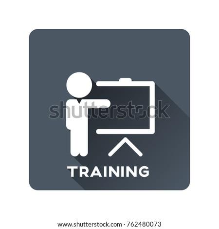 Training icon vector