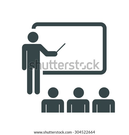 Training, presentation, education icon. Vector.