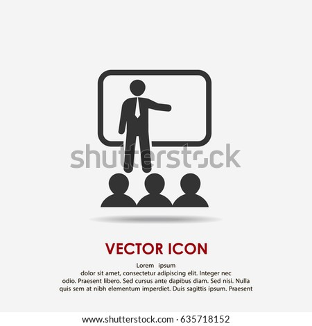 Training, presentation icon