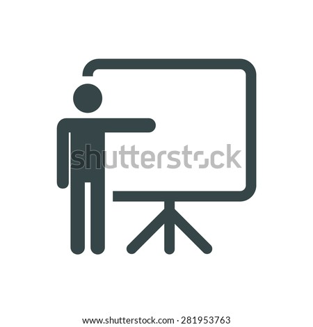 Training, presentation icon. Vector.