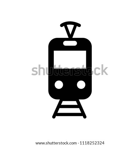 Tram icon vector icon. Simple element illustration. Tram symbol design. Can be used for web and mobile.