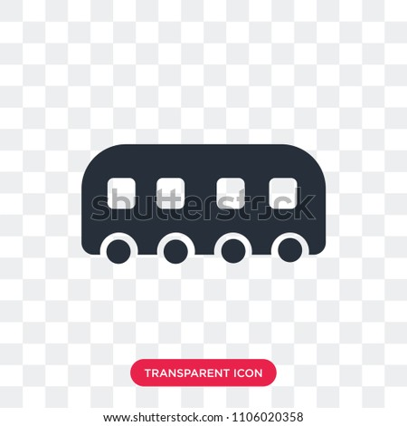 Tram vector icon isolated on transparent background, Tram logo concept