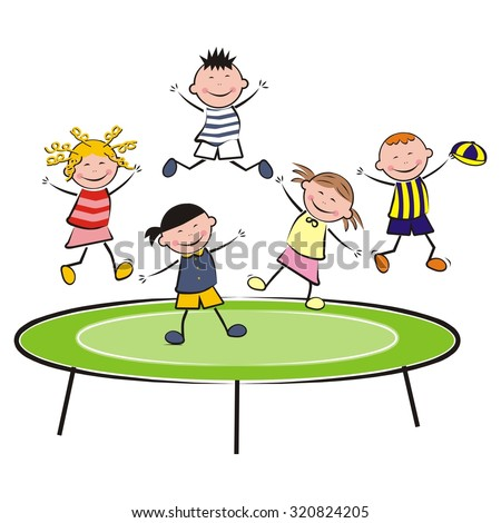 trampoline and bouncing