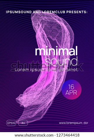 Trance event. Digital show cover design. Dynamic gradient shape and line. Neon trance event flyer. Techno dj party. Electro dance music. Electronic sound. Club fest poster.