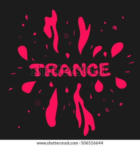 trance music poster splashes