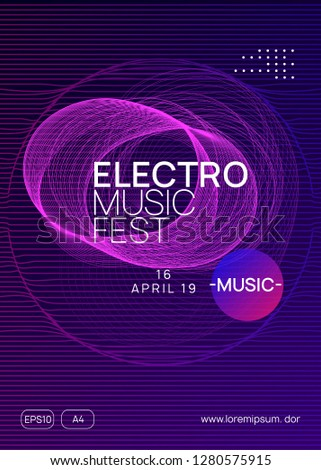 Trance party. Bright show cover template. Dynamic gradient shape and line. Neon trance party flyer. Electro dance music. Electronic sound. Club dj poster. Techno fest event.