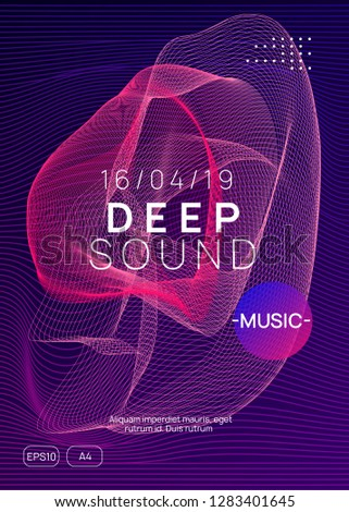 Trance party. Curvy show cover concept. Dynamic gradient shape and line. Neon trance party flyer. Electro dance music. Electronic sound. Club dj poster. Techno fest event.