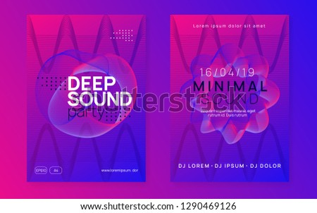 Trance party. Dynamic gradient shape and line. Minimal discotheque cover set. Neon trance party flyer. Electro dance music. Electronic sound. Club dj poster. Techno fest event.