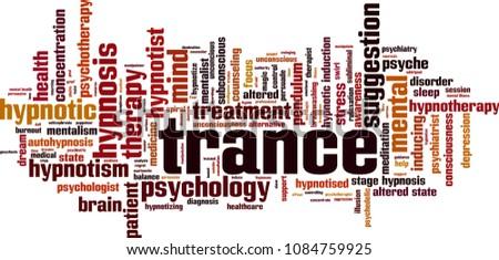 Trance word cloud concept. Vector illustration