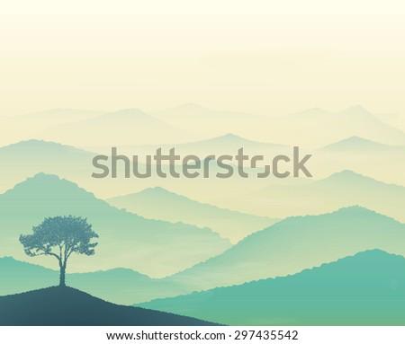 tranquil hills  vista landscape