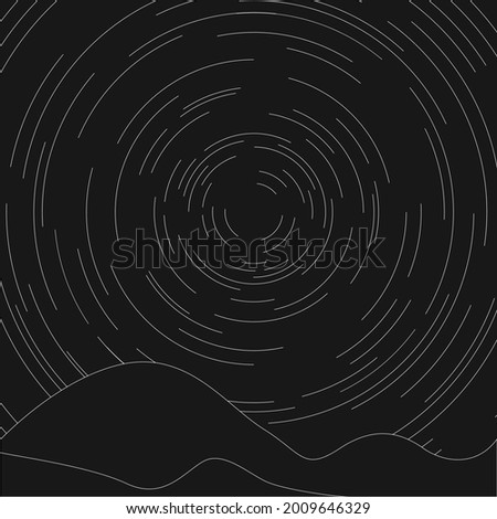 tranquil night sky with circle