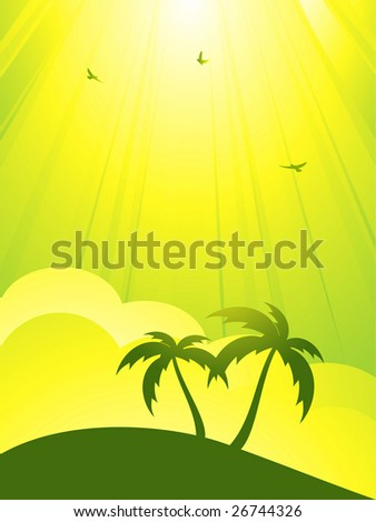 tranquil tropical scene with