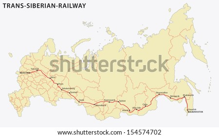trans-siberian railway main route map