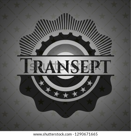 Transept retro style black emblem