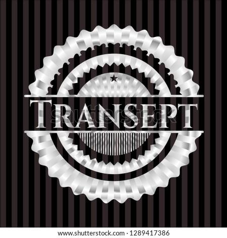 Transept silvery shiny emblem