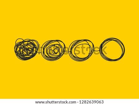 Transform logo, change icon, evolution; business development. Vector illustration