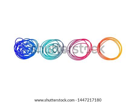 Transform logo, change icon, evolution; business development. Vector illustration Photo stock ©