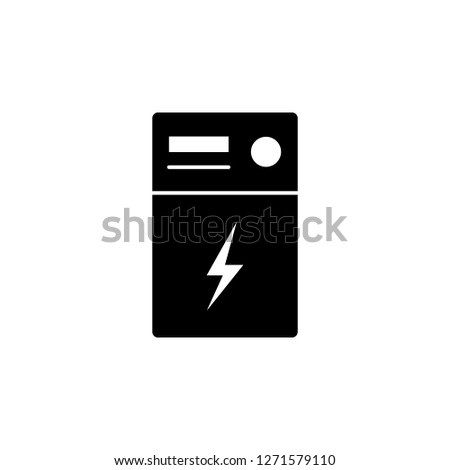 transformer  lightning icon on