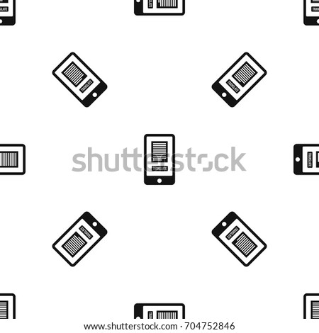 Translate application on a smartphone pattern repeat seamless in black color for any design. Vector geometric illustration