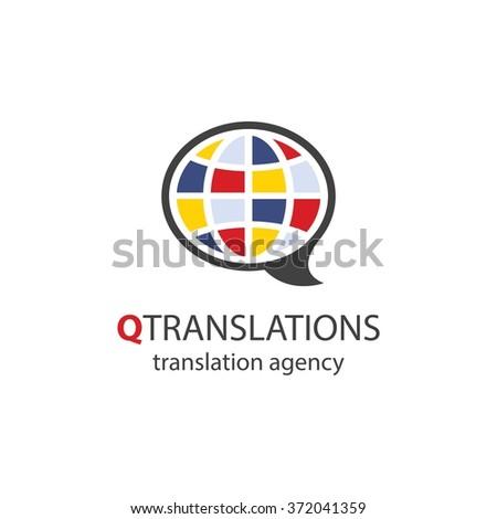 Translation agency logo - Vector Eps10