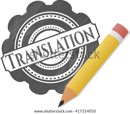 Translation with pencil strokes