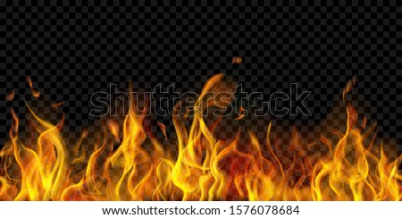 translucent fire flames and